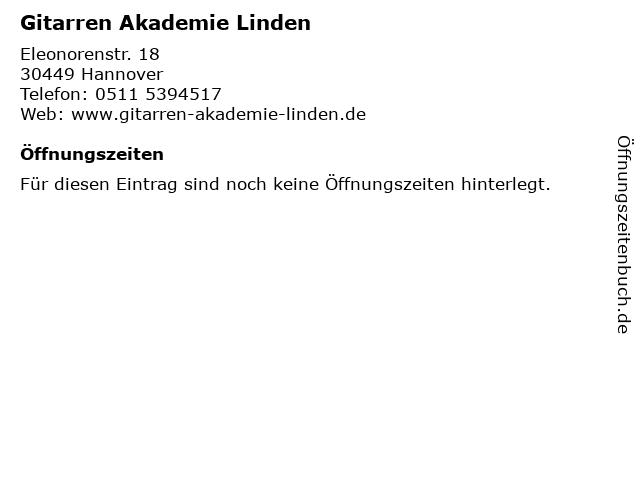 Gitarren Akademie Linden in Hannover: Adresse und Öffnungszeiten