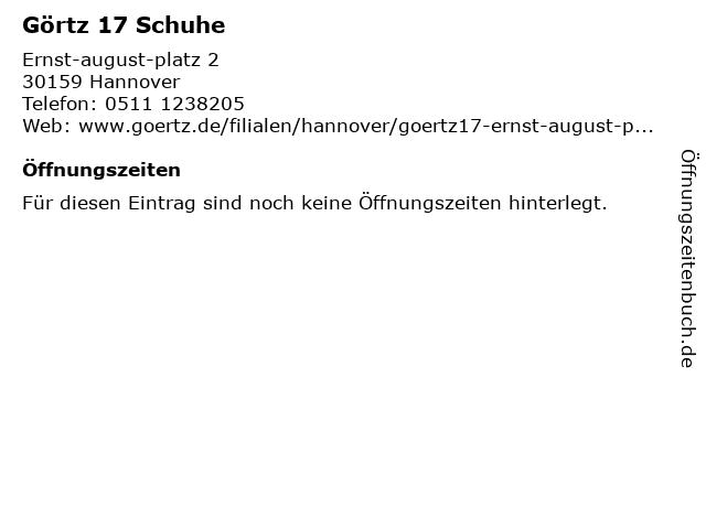 Görtz 17 in Hannover: Adresse und Öffnungszeiten