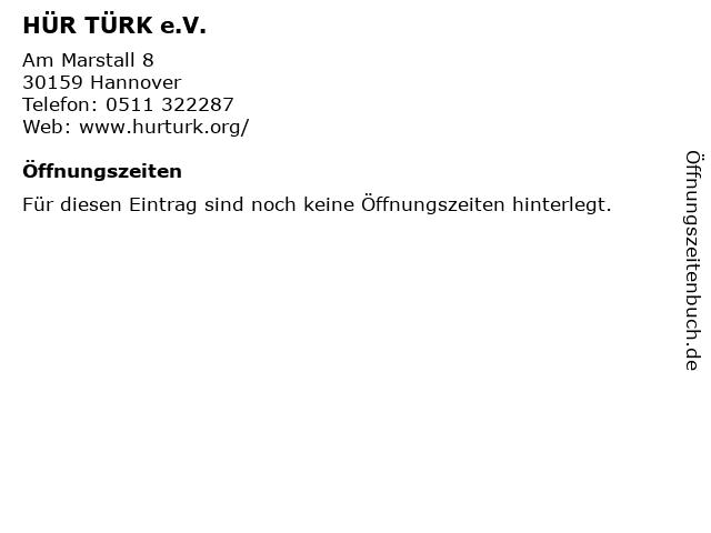 HÜR TÜRK e.V. in Hannover: Adresse und Öffnungszeiten