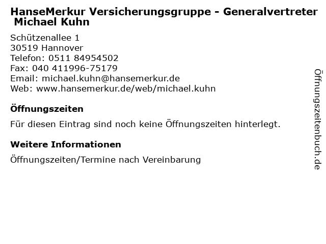 HanseMerkur Versicherungsgruppe - Generalvertreter Michael Kuhn in Hannover: Adresse und Öffnungszeiten
