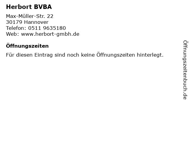 Herbort BVBA in Hannover: Adresse und Öffnungszeiten