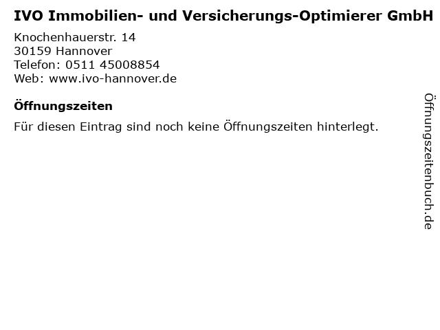 IVO Immobilien- und Versicherungs-Optimierer GmbH in Hannover: Adresse und Öffnungszeiten