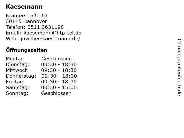 Kaesemann in Hannover: Adresse und Öffnungszeiten