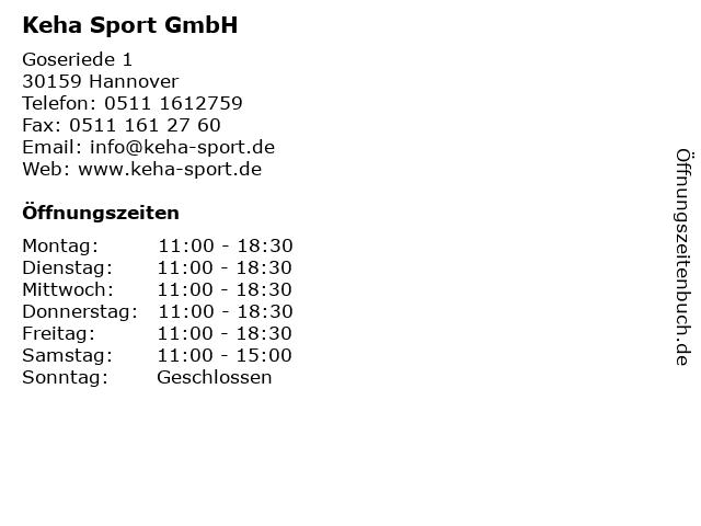 Keha Sport in Hannover: Adresse und Öffnungszeiten