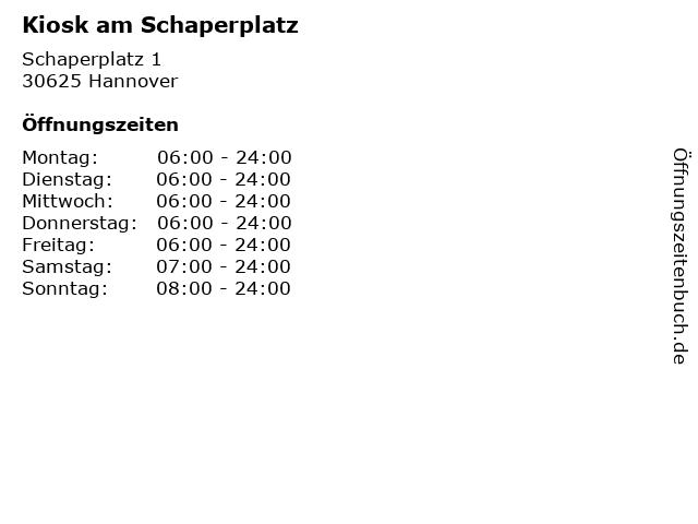 Kiosk am Schaperplatz in Hannover: Adresse und Öffnungszeiten