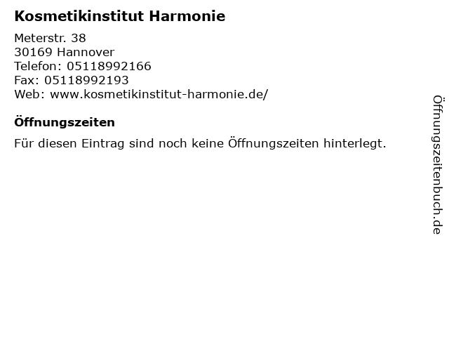 Kosmetikinstitut Harmonie in Hannover: Adresse und Öffnungszeiten