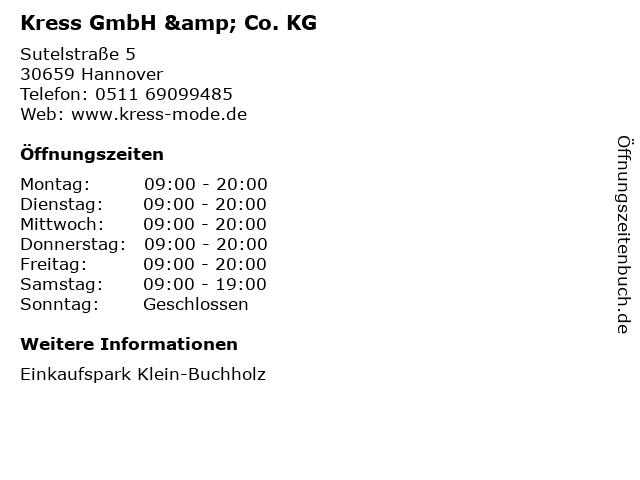 Kress GmbH & Co. KG in Hannover: Adresse und Öffnungszeiten