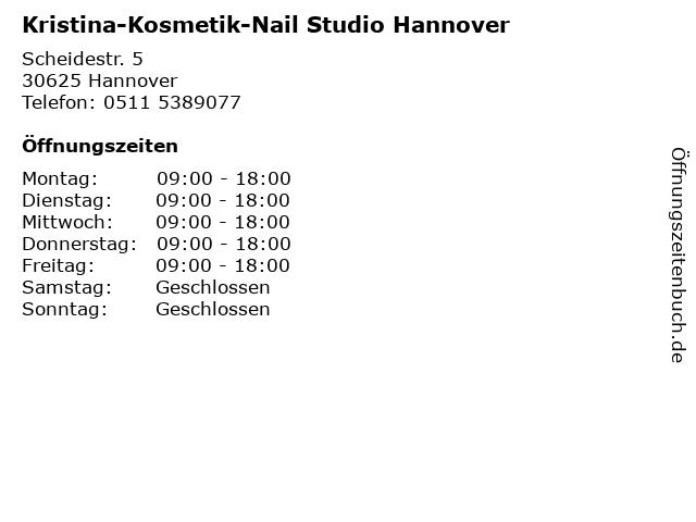Kristina-Kosmetik-Nail Studio Hannover in Hannover: Adresse und Öffnungszeiten