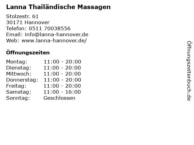ᐅ öffnungszeiten Lanna Thailändische Massagen Stolzestr 61 In
