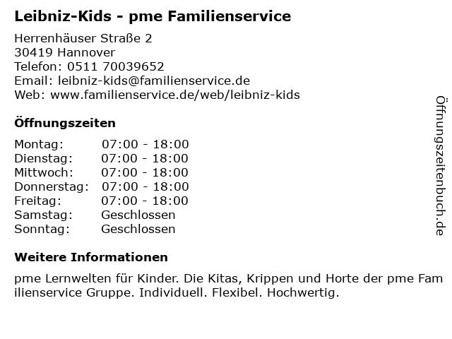 """beste deals voor hete producten goedkoop te koop ᐅ Öffnungszeiten """"Leibniz-Kids - pme Familienservice ..."""