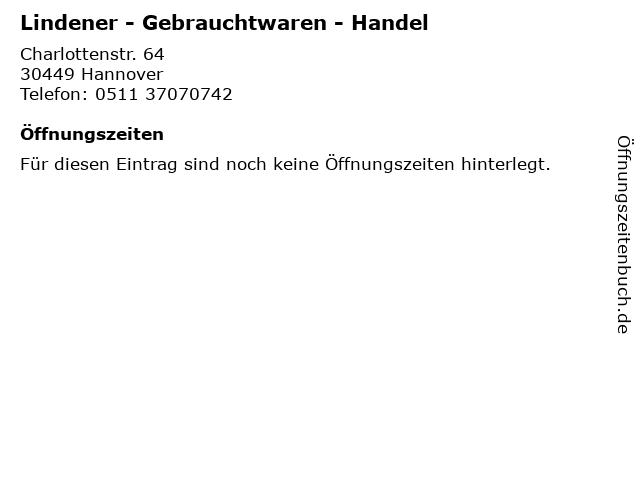 Lindener - Gebrauchtwaren - Handel in Hannover: Adresse und Öffnungszeiten