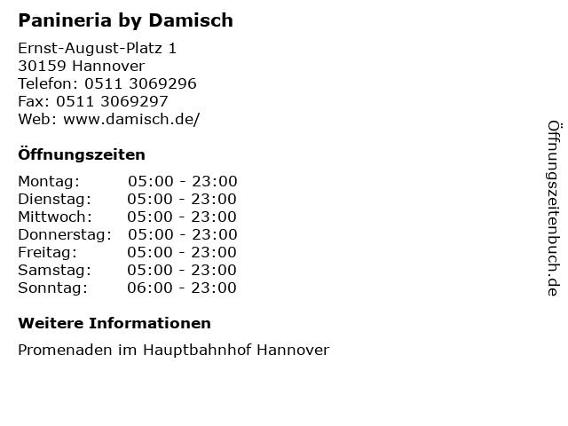 Panineria by Damisch in Hannover: Adresse und Öffnungszeiten
