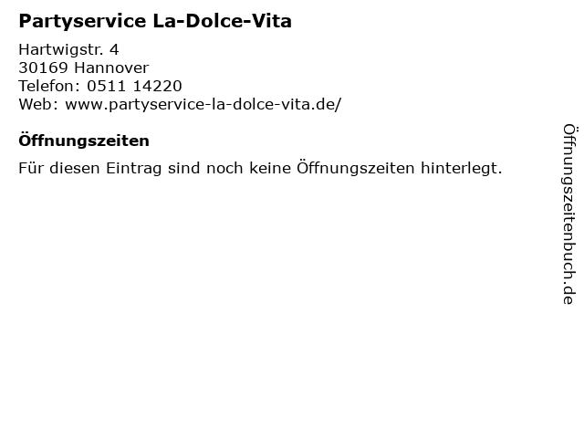 La Dolce Vita in Hannover: Adresse und Öffnungszeiten