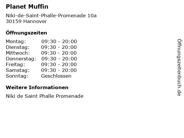 Planet Muffin in Hannover: Adresse und Öffnungszeiten