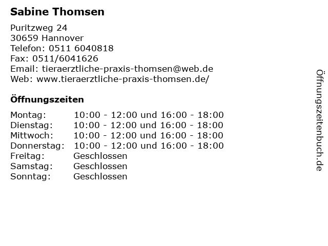 Sabine Thomsen in Hannover: Adresse und Öffnungszeiten