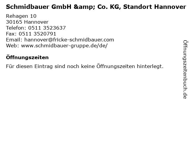 Schmidbauer GmbH & Co. KG, Standort Hannover in Hannover: Adresse und Öffnungszeiten