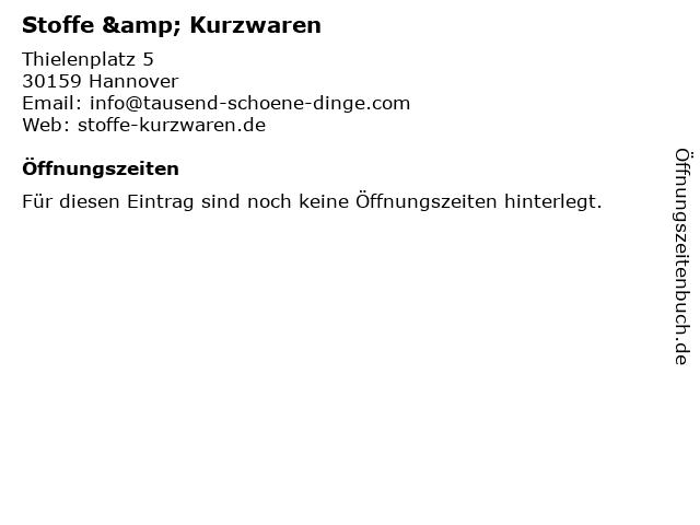 Stoffe & Kurzwaren in Hannover: Adresse und Öffnungszeiten