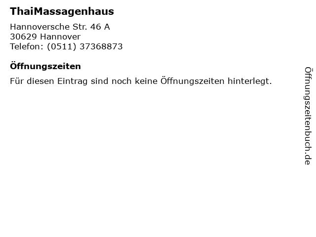 ᐅ öffnungszeiten Thaimassagenhaus Hannoversche Str 46 A In Hannover