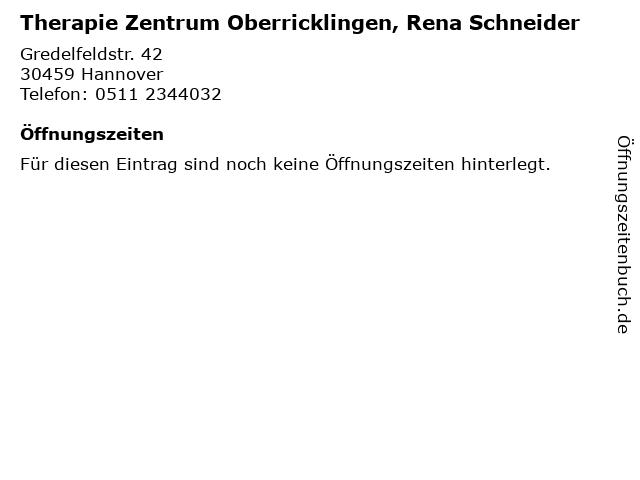 Therapie Zentrum Oberricklingen, Rena Schneider in Hannover: Adresse und Öffnungszeiten