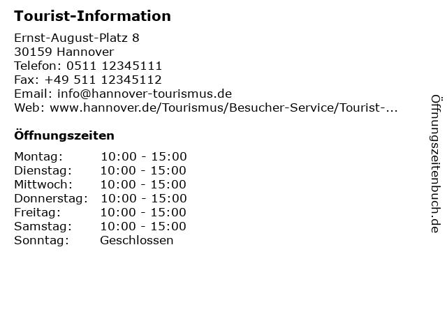 Tourist-Information in Hannover: Adresse und Öffnungszeiten