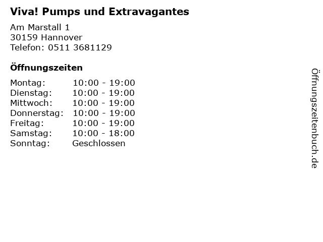 Viva! Pumps und Extravagantes in Hannover: Adresse und Öffnungszeiten