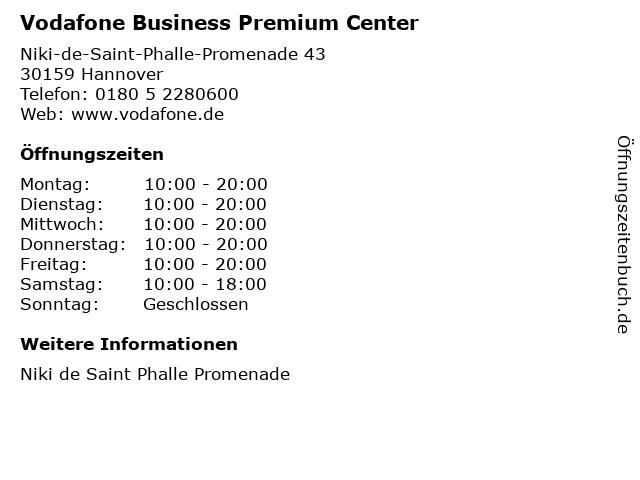 Vodafone Business Premium Center in Hannover: Adresse und Öffnungszeiten