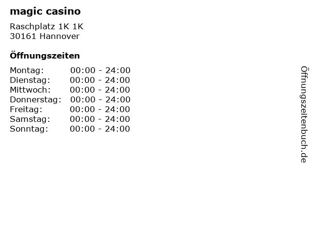 magic casino in Hannover: Adresse und Öffnungszeiten