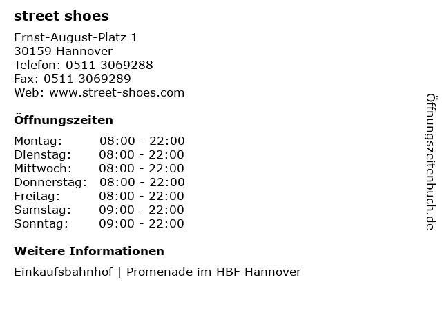 street shoes in Hannover: Adresse und Öffnungszeiten