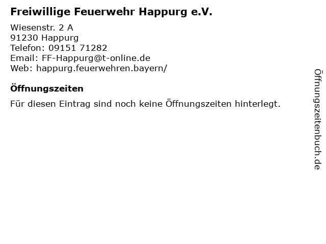Freiwillige Feuerwehr Happurg e.V. in Happurg: Adresse und Öffnungszeiten