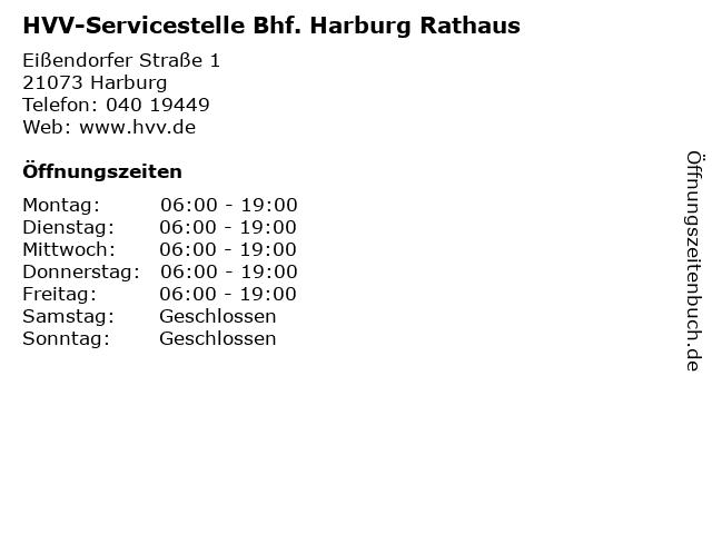 HVV-Servicestelle Bhf. Harburg Rathaus in Harburg: Adresse und Öffnungszeiten