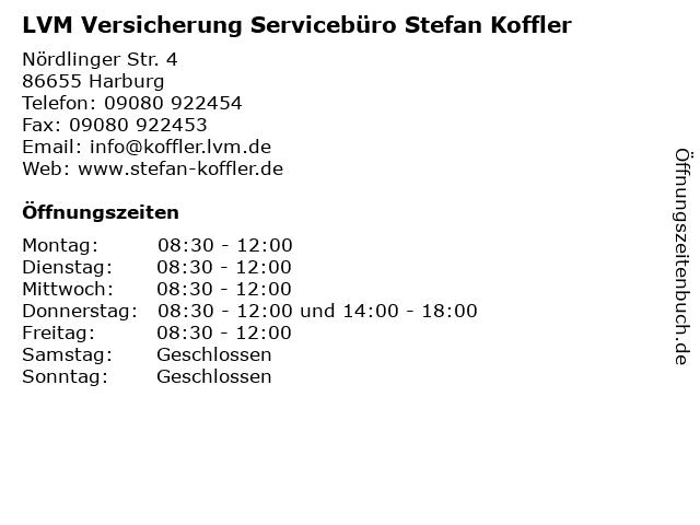 LVM Versicherung Servicebüro Stefan Koffler in Harburg: Adresse und Öffnungszeiten
