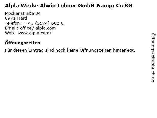 Alpla Werke Alwin Lehner GmbH & Co KG in Hard: Adresse und Öffnungszeiten