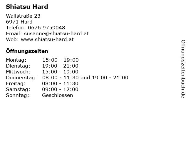 Shiatsu Hard in Hard: Adresse und Öffnungszeiten