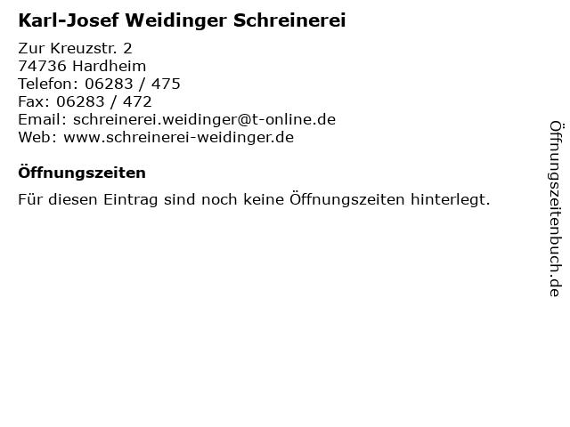 Karl-Josef Weidinger Schreinerei in Hardheim: Adresse und Öffnungszeiten