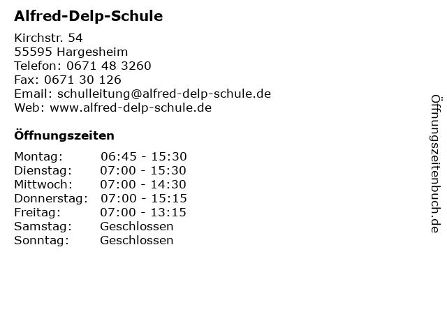 alfred delp schule hargesheim