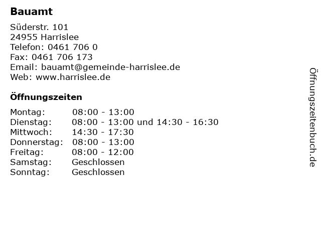 Bauamt in Harrislee: Adresse und Öffnungszeiten