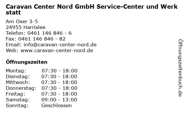 Caravan Center Nord GmbH Service-Center und Werkstatt in Harrislee: Adresse und Öffnungszeiten