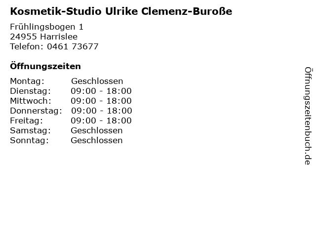 Kosmetik-Studio Ulrike Clemenz-Buroße in Harrislee: Adresse und Öffnungszeiten