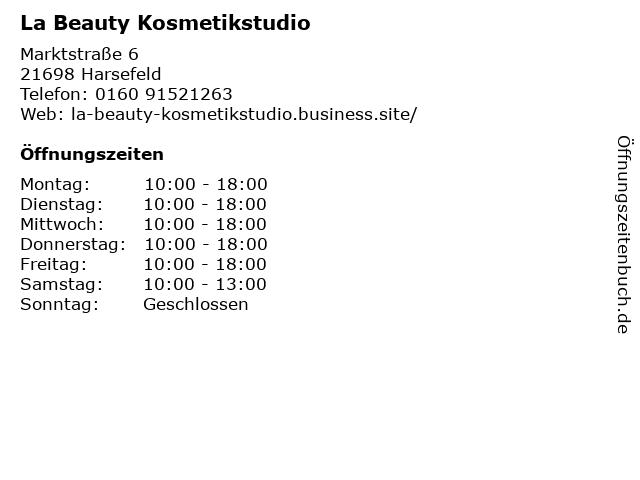 La Beauty Kosmetikstudio in Harsefeld: Adresse und Öffnungszeiten