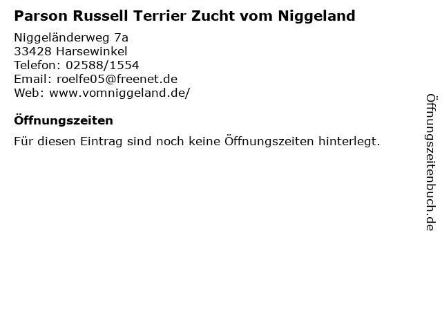 Parson Russell Terrier Zucht vom Niggeland in Harsewinkel: Adresse und Öffnungszeiten