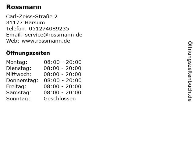 Rossmann in Harsum: Adresse und Öffnungszeiten