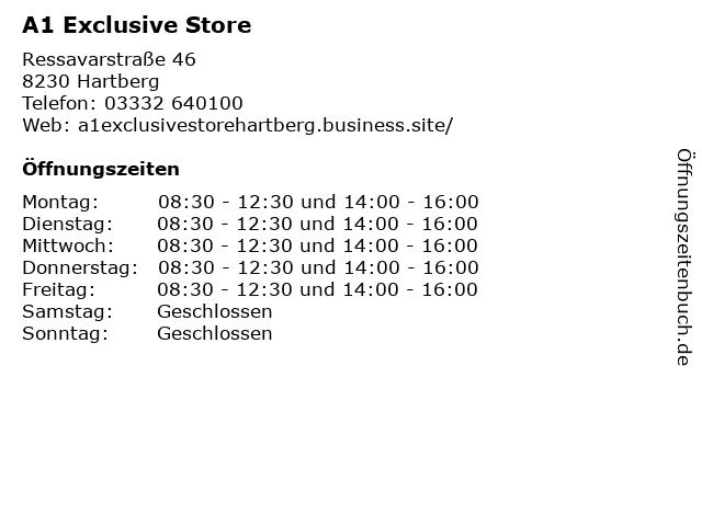 A1 Exclusive Store in Hartberg: Adresse und Öffnungszeiten