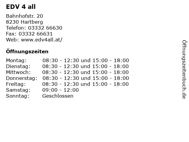 EDV 4 all in Hartberg: Adresse und Öffnungszeiten