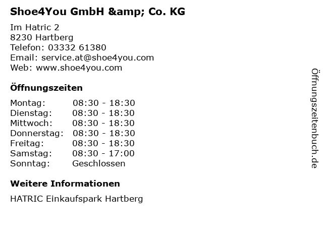 Shoe4You GmbH & Co. KG in Hartberg: Adresse und Öffnungszeiten