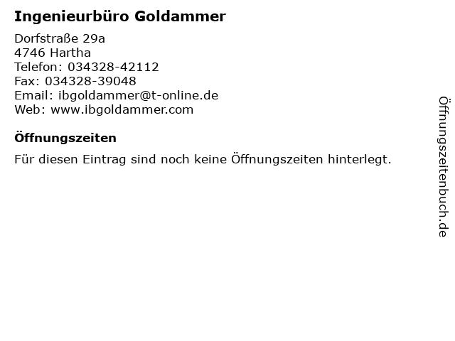 Ingenieurbüro Goldammer in Hartha: Adresse und Öffnungszeiten