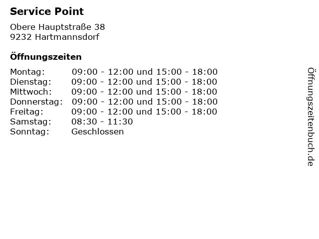 Service Point in Hartmannsdorf: Adresse und Öffnungszeiten