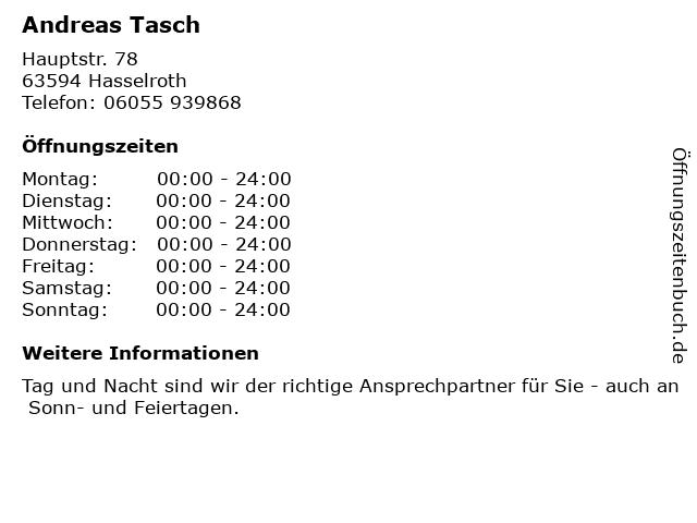 Andreas Tasch in Hasselroth: Adresse und Öffnungszeiten