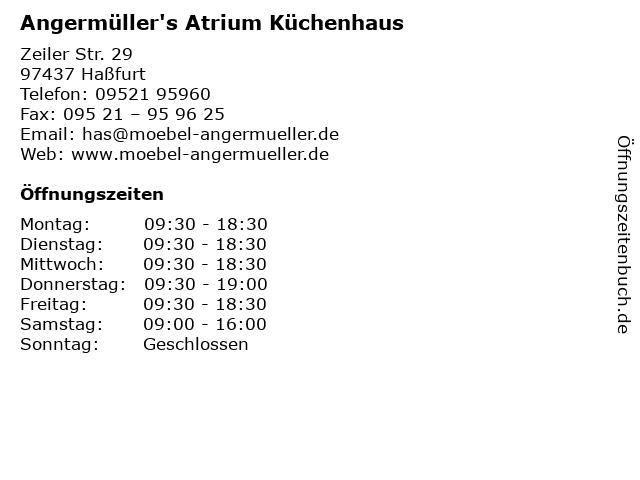 ᐅ Offnungszeiten Angermuller S Atrium Kuchenhaus Zeiler Str 29