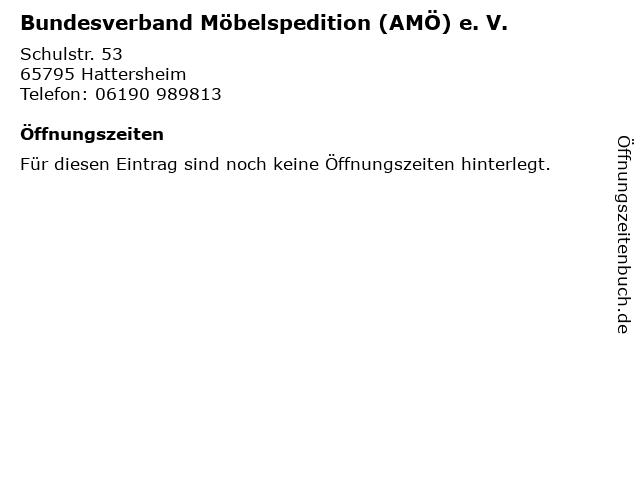 Bundesverband Möbelspedition (AMÖ) e. V. in Hattersheim: Adresse und Öffnungszeiten