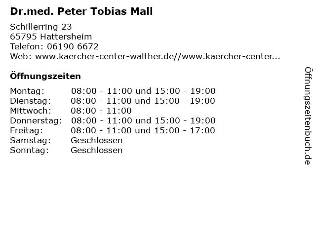 Dr.med. Peter Tobias Mall in Hattersheim: Adresse und Öffnungszeiten